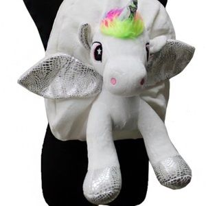3D Unicorn Hologram Fuzzy Furry Cute Backpack